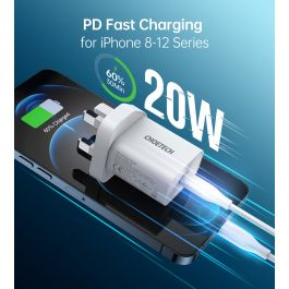 Q5004-V3-UK-WH|ChoChoetech Q5004-V2 PD20W Fast Type C Wall Charger
