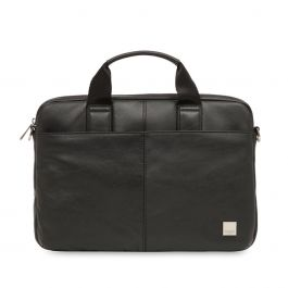Knomo - Brompton Classic Stanford Slim Laptop Briefcase 13 inch - Black