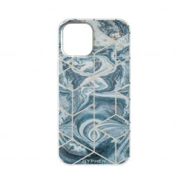 HYPHEN Marble Case - Pacific Blue - iPhone 12 / iPhone 12 Pro
