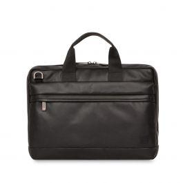 "Knomo - Foster Leather Laptop Briefcase 14"" - Black"