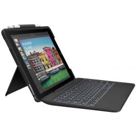 LOGITECH SLIM COMBO with detachable keyboard and Smart Connector for iPad Pro 10.5 inch - BLACK - UK - INTNL