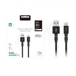 AT POWER MAX+ LIGHTNING TO USB-A CABLE 1.1M BLACK