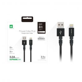 AT POWER MAX+ LIGHTNING TO USB-A CABLE 2.1M BLACK