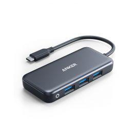A8352HA1|Anker Premium 7-in-1 USB-C Hub 1H 1C 2A 2M 1EGray