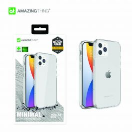 AT Anti-microbial outre minimal drop proof case for iPhone 12 Pro Max - Clear