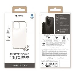 MUVIT FOR CHANGE SHOCKPROOF CASE 2M  TRANSPARENTE Antibacterial Case forAPPLE IPHONE 12 PRO MAX