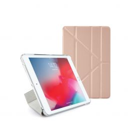 Pipetto - Metallic Origami Case for iPad Mini 5 (2019) - Rose Gold Clear