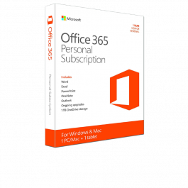 Office 365 Personal Subscr 1 Yr/1user
