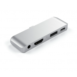 Satechi - Hub - TYPE-C Mobile Pro Hub - For iPad & Type C Smartphones / Tablets - Silver