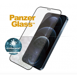 Panzer Glass - iPhone 12 & 12 Pro - CF Edge To Edge - Black Frame - Clear