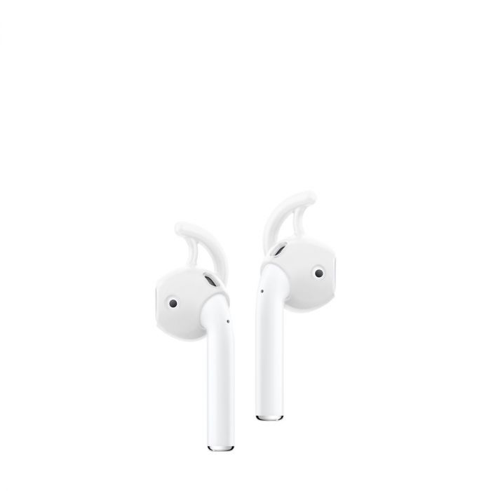 newest 80658 820bb Spigen - AirPods TEKA Earhook - White