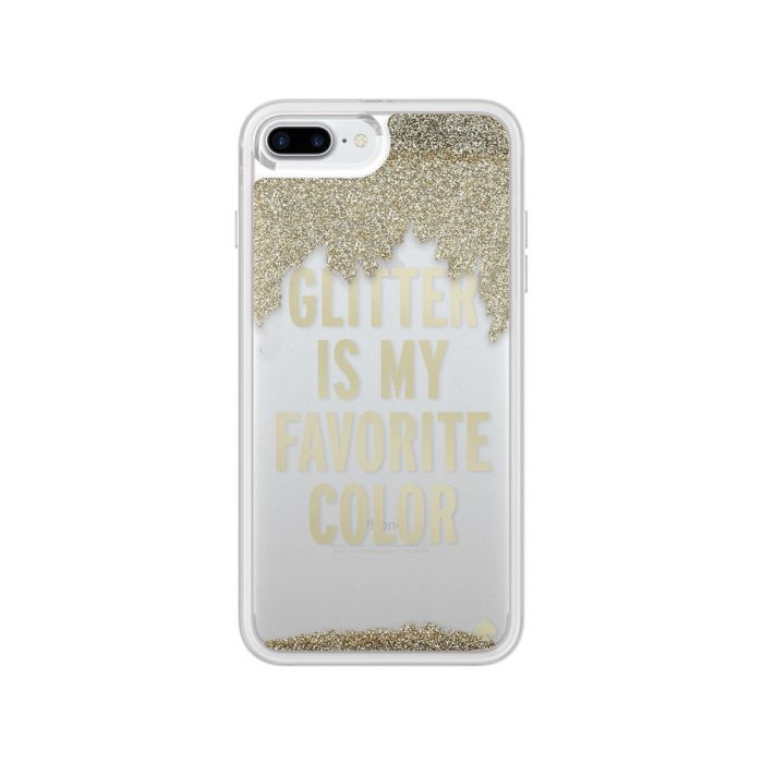 best loved 4de75 d0f2f Kate Spade New York iPhone 7 Plus Liquid Glitter Case - Glitter Is My  Favorite Color Gold / Clear