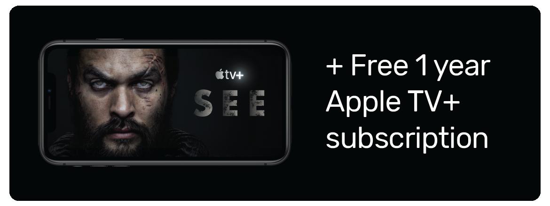 Free 1 year Apple TV+ subscription